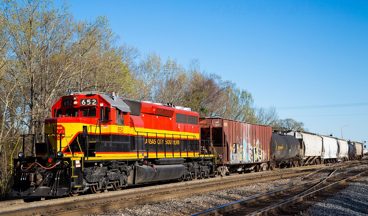 Action Photo:  KCS 5003 in red/yellow/black Heritage scheme.