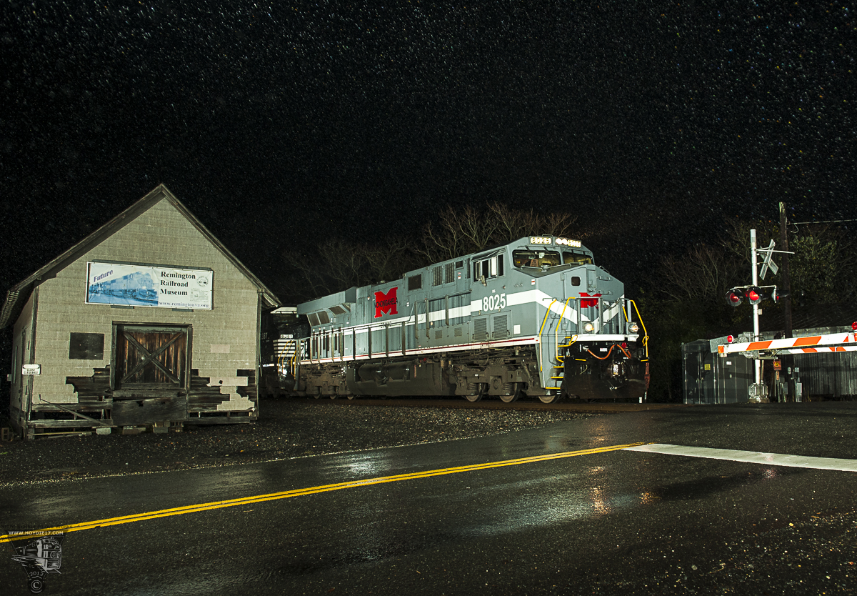 Action Photo:  NS 8025 with Manifest at night.